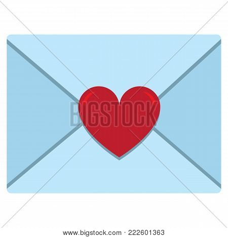 cute letter envelope colorful isolated On White Background