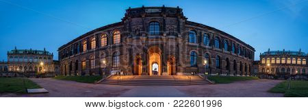Dresden, Gerrmany- May 20, 2017: Dresdner Zwinger palace