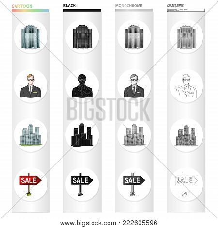 House, building, skyscraper and other  icon in cartoon style.Office, lease, business, icons in set collection.