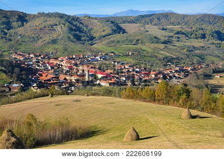 a romanian village, view from the above