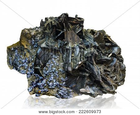 the wolframite (wolfram ore), isolated on the white