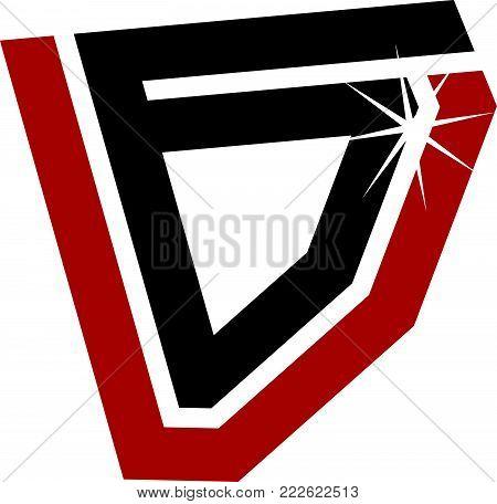 Letter V G Modern Logo Design Template Vector