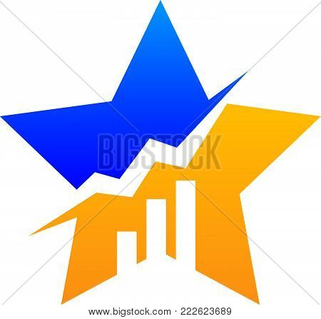 Success Business Entrepreneur Logo Design Template Vector