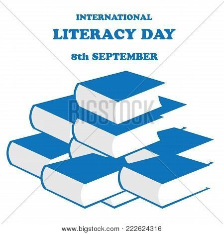 Vector illustration of International Literacy Day on a white background