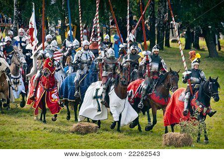 Teutonic Horsemen Before The Battle Of Grunwald 1410