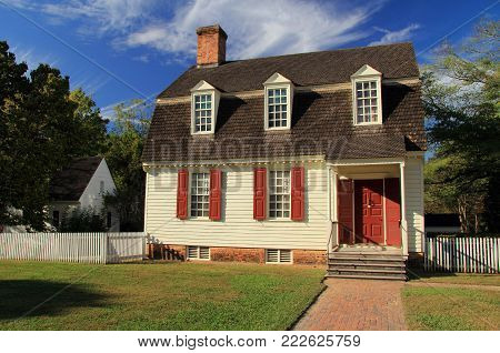 Williamsburg, Va - October 6: Colonial Williamsburg Is Notable For Its Numerous Historic Homes And S