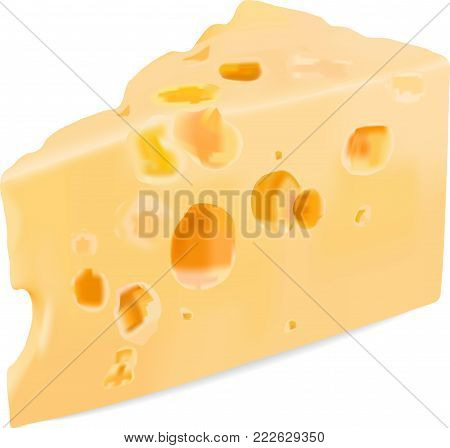 Picture of a piece of appetizing cheese