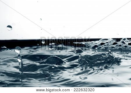 water background /  Water is a transparent and nearly colorless chemical substance that is the main constituent of Earth's streams, lakes, and oceans, and the fluids of most living organisms.