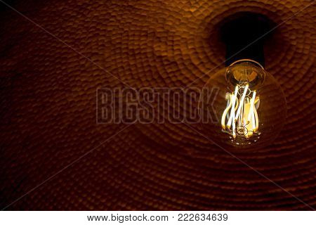 Beautifull Ornamental Light Bulbs Creating Classic Rustic Look And Glow