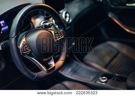 Inside Luxury Car And Interior Modern Car