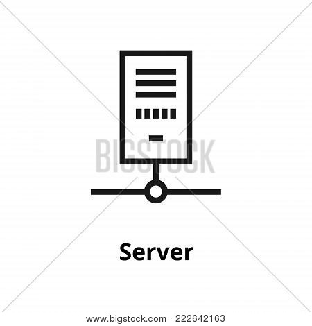 Server thin line icon. Icon for user interface and web