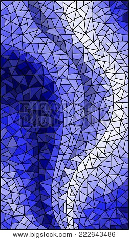 Abstract stained glass background ,gamma blue,different tile shades