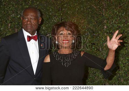 LOS ANGELES - JAN 15:  Sid Williams, Maxine Waters at the 49th NAACP Image Awards - Arrivals at Pasadena Civic Center on January 15, 2018 in Pasadena, CA