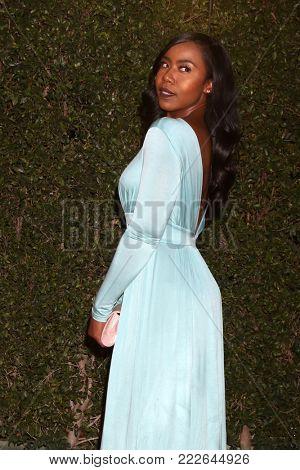 LOS ANGELES - JAN 15:  Nia Jervier at the 49th NAACP Image Awards - Arrivals at Pasadena Civic Center on January 15, 2018 in Pasadena, CA