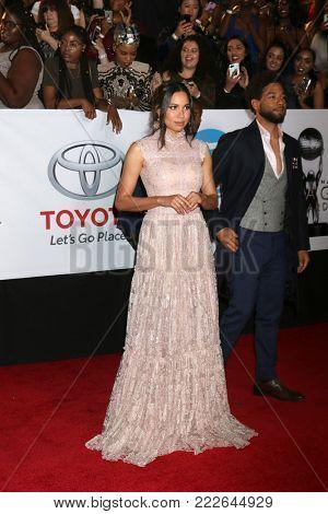 LOS ANGELES - JAN 15:  Jurnee Smollett-Bell at the 49th NAACP Image Awards - Arrivals at Pasadena Civic Center on January 15, 2018 in Pasadena, CA