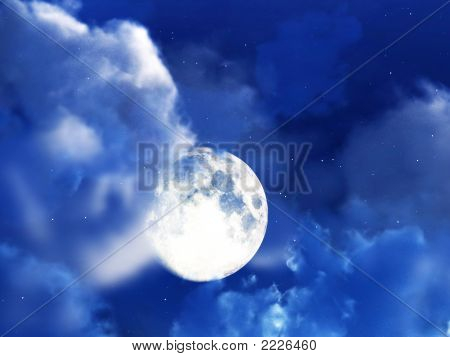 Moon Night Sky