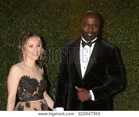LOS ANGELES - JAN 15:  Iva Colter, Mike Colter at the 49th NAACP Image Awards - Arrivals at Pasadena Civic Center on January 15, 2018 in Pasadena, CA