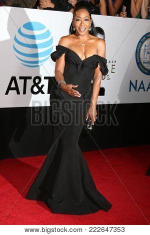 LOS ANGELES - JAN 15:  Tichina Arnold at the 49th NAACP Image Awards - Arrivals at Pasadena Civic Center on January 15, 2018 in Pasadena, CA