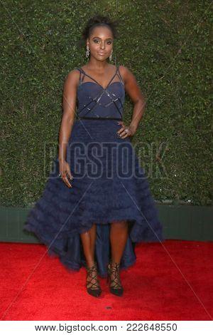 LOS ANGELES - JAN 15:  Antoinette Robertson  at the 49th NAACP Image Awards - Arrivals at Pasadena Civic Center on January 15, 2018 in Pasadena, CA