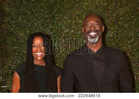 LOS ANGELES - JAN 15:  Wife, Isaiah Washington at the 49th NAACP Image Awards - Arrivals at Pasadena Civic Center on January 15, 2018 in Pasadena, CA