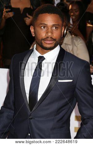LOS ANGELES - JAN 15:  Nnamdi Asomugha at the 49th NAACP Image Awards - Arrivals at Pasadena Civic Center on January 15, 2018 in Pasadena, CA