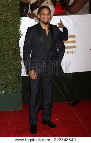 LOS ANGELES - JAN 15:  Tristian Wilds at the 49th NAACP Image Awards - Arrivals at Pasadena Civic Center on January 15, 2018 in Pasadena, CA