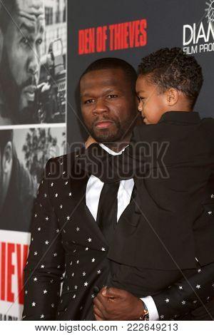 LOS ANGELES - JAN 17:  Curtis Jackson, 50 Cent, Sire Jackson at the