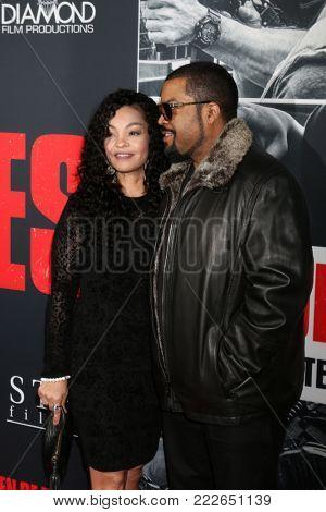 LOS ANGELES - JAN 17:  Kimberly Woodruff,  O'Shea Jackson, Ice Cube at the