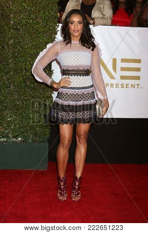 LOS ANGELES - JAN 15:  Annie Ilonzeh at the 49th NAACP Image Awards - Arrivals at Pasadena Civic Center on January 15, 2018 in Pasadena, CA