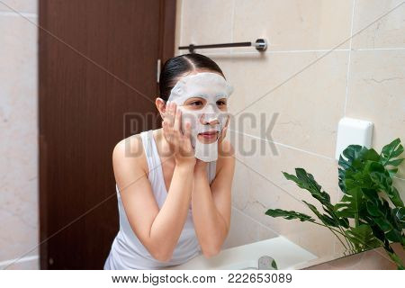 Young Vietnamese Girl Enjoy Herself With Bubble Cleansing Foam