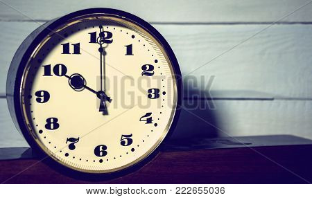 watch, vintage retro ten o'clock in the morning and evening