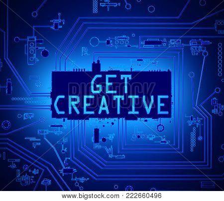 Creative Technology Concept.