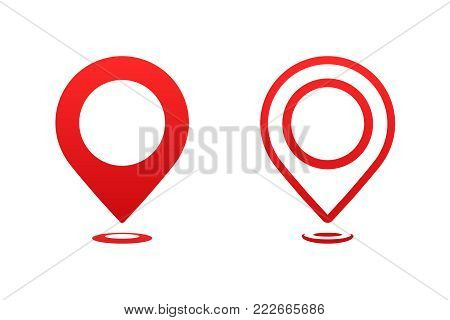 Icons map pointer. Pointer pin marker for travel place vector illustration. GPS navigation.