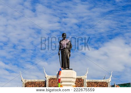 Nakhon Ratchasimaa Thailand - November 25, 2016 : Thao Suranaree Monument for remember bravery in courage from against the enemy.