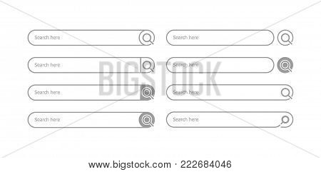 Search bar flat style - stock vector.