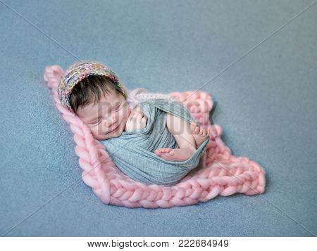 Portrait of cute smiling baby