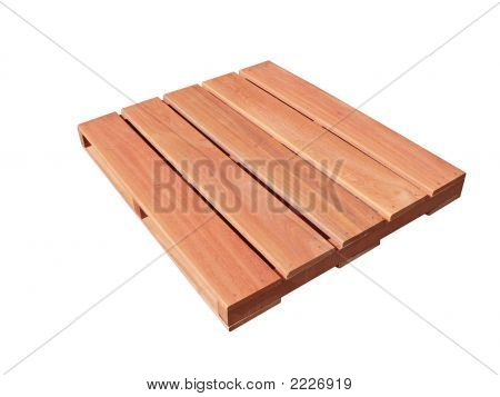 Red Wood Pallet