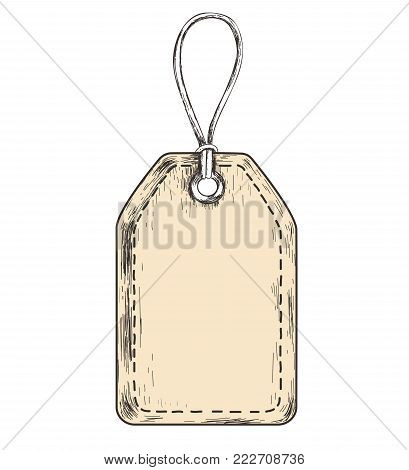 Sketch tag for sales. a label template for goods and sales. Label vector illustration. Blank template price