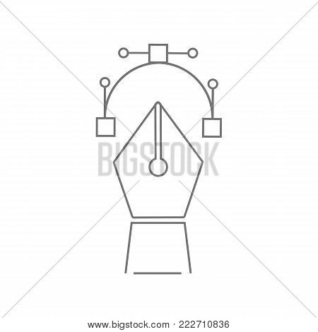 Pen tool icon isolated on white background. Vector stock.