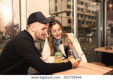 Couple Is Using A Tablet