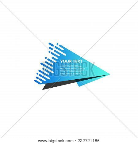 Style text templates speed origami for banner Vector abstract geometric origami