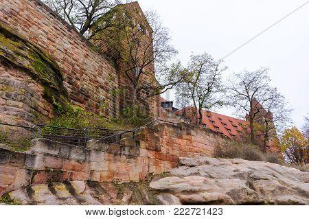 Nuremberg Castle in Nurnberg, Franconia, Bavaria state, Germany