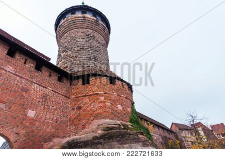 Nurnberg, Middle Franconia, Bavaria, Germany. View of Imperial Castle - symbol of Nuremberg. Imperial Castle, a castle from Holy Roman Empire, is one of the most important castles in Germany.