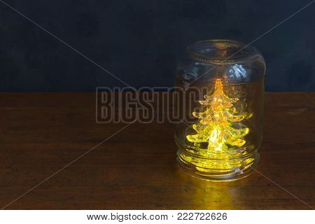 Holiday spruce in a jar.Gifts, preparation for the feast.