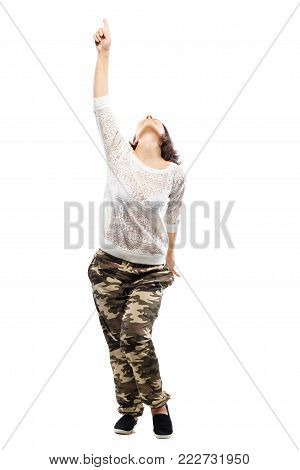 Dancing Girl In Camouflage Pants