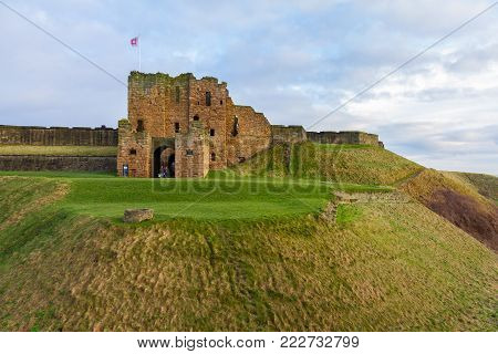 Medieval Tynemouth Priory And Castle Ruins Panorama, United Kingdom