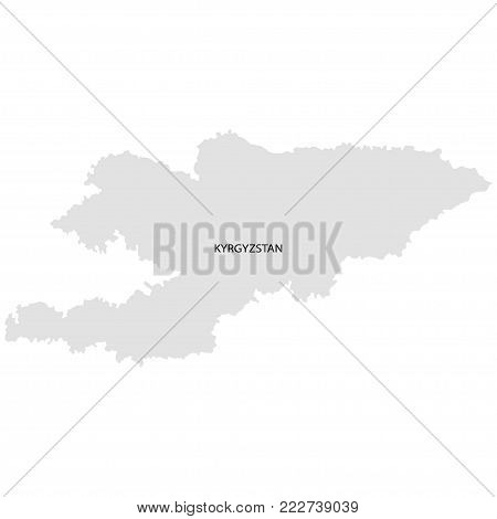Territory of Kyrgyzstan. White background. Vector illustration