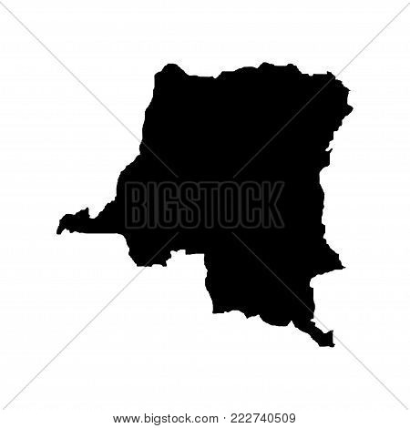 Territory of the Democratic Republic of the Congo. White background. Vector illustration