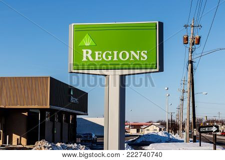 Marion - Circa January 2018: Regions Financial Corporation. Regions is the only member of the Fortune 500 headquartered in Alabama