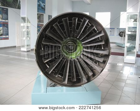 Gatchina, Russia - June 16, 2016: Museum Of The History Of Aircraft Engine Building. Aircraft Engine